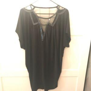 Aqua beaded dress